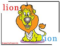 Lion - lion abc image dictionnaire anglais francais