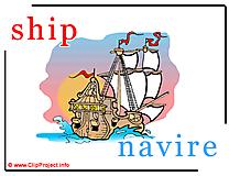 Ship - navire abc image dictionnaire anglais francais