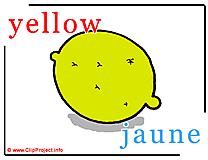 Yellow - jaune abc image dictionnaire anglais francais