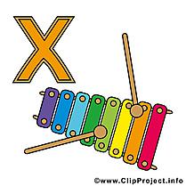 X Xylophon dessin – Alphabet allemand images