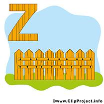 Z Zaun dessin – Alphabet allemand images