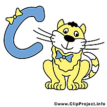C cat images gratuites – Alphabet english clipart