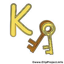K key image – Alphabet english images cliparts