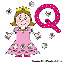 Q queen cliparts gratuis – Alphabet english images