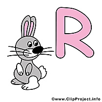 R rabbit clipart – Alphabet english dessins gratuits