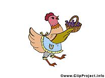 Poule dessin à télécharger - Pâques images