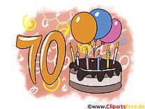 10 ans illustration gratuite – Anniversaire clipart