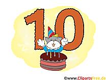 10 ans images – Anniversaire dessins gratuits