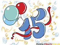 15 ans anniversaire illustration à télécharger gratuite