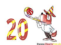 20 ans dessin – Anniversaire cliparts à télécharger