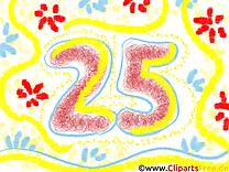 25 ans image gratuite – Anniversaire clipart