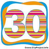 30 ans clipart gratuit – Anniversaire images