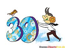 30 ans dessin – Anniversaire clip arts gratuits