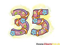 35 ans dessin – Anniversaire cliparts à télécharger