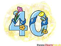 40 ans anniversaire image à télécharger gratuite