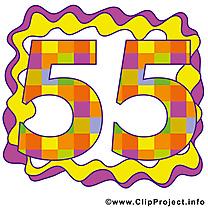 55 ans dessin – Anniversaire à télécharger