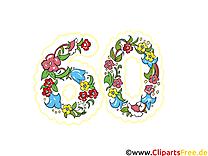 60 ans images – Anniversaire dessins gratuits