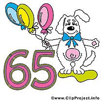 65 ans dessin – Anniversaire cliparts à télécharger
