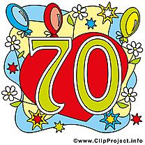 70 ans image à télécharger – Anniversaire clipart