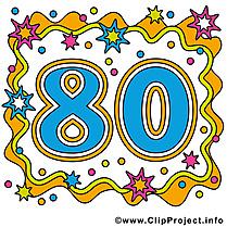 80 ans clipart – Anniversaire dessins gratuits