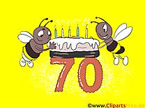 Abeilles 70 ans dessin – Anniversaire cliparts