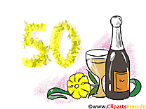 Champagne 50 ans dessin – Anniversaire images