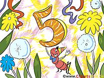 Fourmi 5 ans clip art gratuit – Anniversaire images