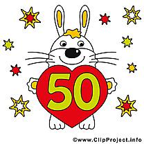 Lapin 50 ans image gratuite – Anniversaire illustration