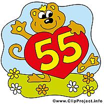 Singe 55 ans dessins gratuits – Anniversaire clipart