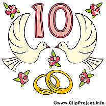 10 ans anniversaire mariage images