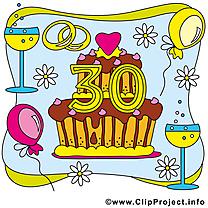 30 ans anniversaire mariage illustration gratuite