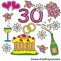 30 ans anniversaire mariage images