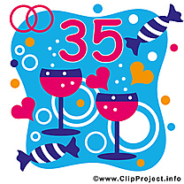 35 ans anniversaire mariage image gratuite