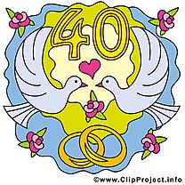 40 ans anniversaire mariage images