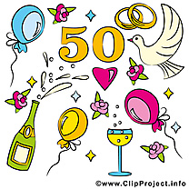 50 ans ballons anniversaire mariage images