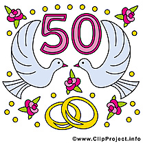 50 ans colombes anniversaire mariage images