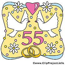 55 ans colombes anniversaire mariage à télécharger