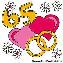 65 ans anniversaire mariage clip art gratuit