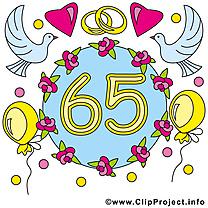 65 ans anniversaire mariage cliparts à télécharger