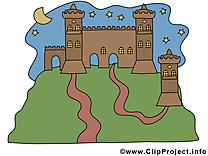 Château clip art – Biens immobiliers image gratuite