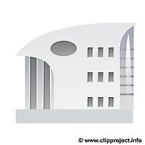 Coloriage clip art immeuble – Biens immobiliers image