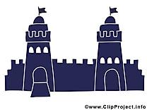 Dessin château – Biens immobiliers cliparts à télécharger