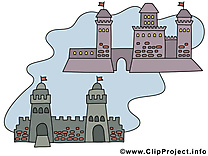 Fortifications dessin – Biens immobiliers clip arts