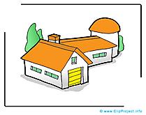 Maison clip arts gratuits – Biens immobiliers illustrations