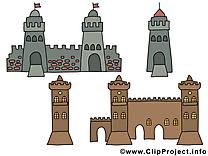 Tours châteaux images – Biens immobiliers clipart