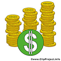 Dollars illustration gratuite – Argent clipart