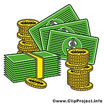 Dollars images gratuites – Argent clipart