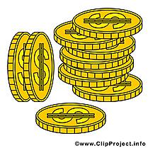 Monnaies argent illustration à télécharger gratuite