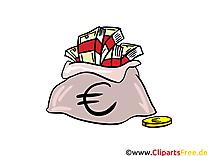 Sac euro clipart – Argent dessins gratuits