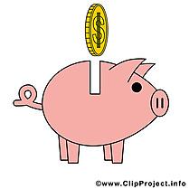 Tirelire argent illustration à télécharger gratuite